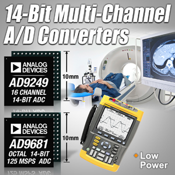 ADI公司发布两款14位数模转换器AD9249