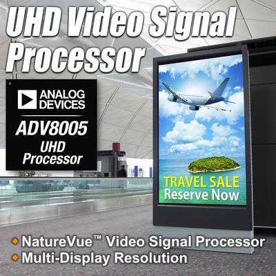 ADI推出NATUREVUE(TM)超高清视频信号处理器