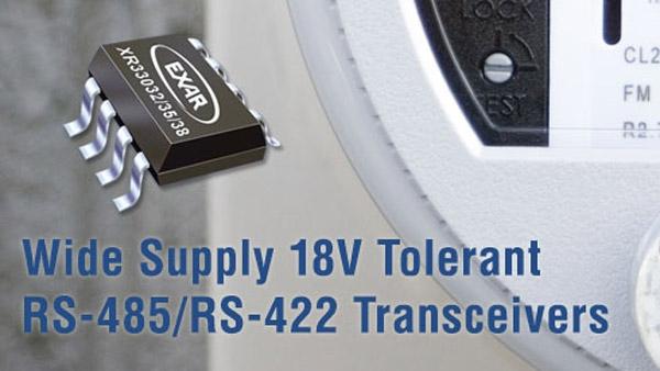 Exar发布最宽工作范围RS-485收发器