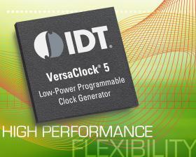 IDT 推出具备同类最佳抖动性能的 VersaClock 5®