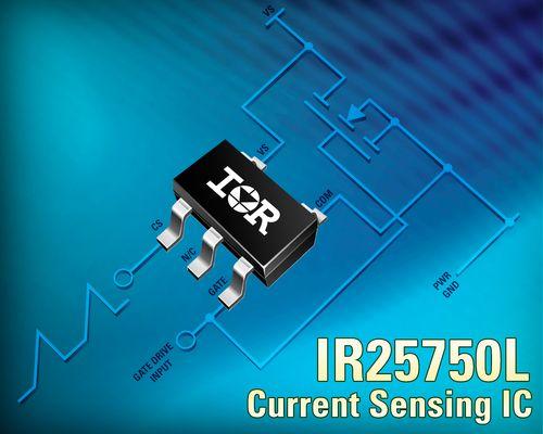 IR推出坚固耐用的600V IR25750 SOT-23电流检测IC