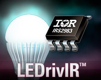 IR多功能IRS2983 LEDrivIR控制IC 为高性能调光应用简化设计