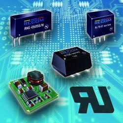 RECOM拥有极具吸引力价格的1W DC/DC转换器和R-78开关稳压器