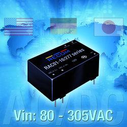 ROCOM拥有超宽输入电压范围的1~10W AC/DC电源模块