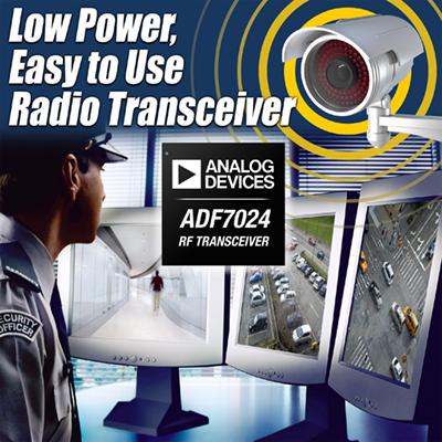 ADI发布低功耗无线电收发器ADF7024