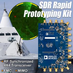 ADI近日发布业界首款软件定义无线电(SDR)快速原型制作套件