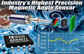 ADI精度最高、速率最快的磁性角度传感器ADA4571,用于汽车和工业应用