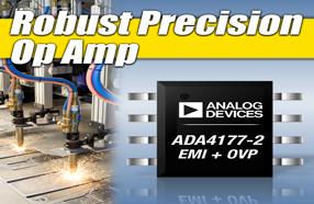 ADI精密运算放大器ADA4177-2,树立业界稳定性标准