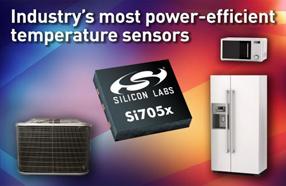 Silicon Labs推出新型高精度、超低功耗温度传感器Si705x