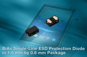 Vishay推出超小封装的双向和对称(BiAs)单线ESD保护二极管