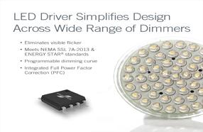 Fairchild相切可调光单级LED驱动器 简化了宽范围可调光设计