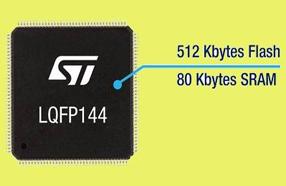 ST的STM32F3微控制器闪存容量高达512KB,大幅提升系统集成度