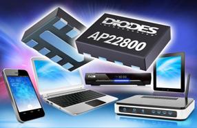 Diodes 5V单通道负载开关AP22800,具有可编程软启动功能