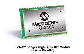 Microchip推出首个符合超长距离、低功耗网络标准的无线模块