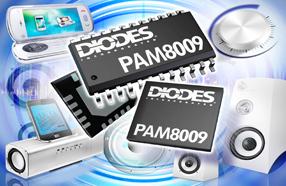 Diodes 3W立体声D类音频放大器开始供货