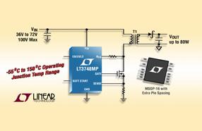 Linear 推出100V反激式控制器,可提供55ºC-150ºC军用MP级版本