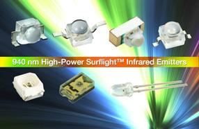 Vishay推出采用SurfLight技术的新款红外发射器
