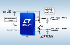 Linear 推出高压双输出同步降压型 DC/DC 控制器 LTC3892