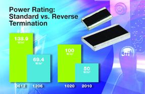 Vishay新款厚膜片式电阻功率为等效标准器件的4倍,便于节省空间