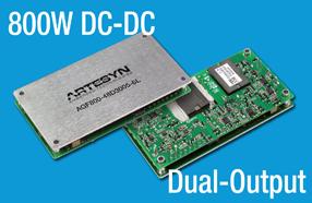 雅特生科技推出全新800W直流/直流电源转换器模块