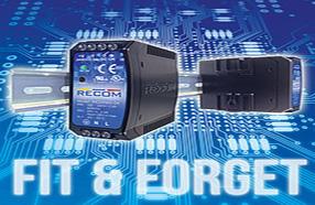 RECOM新发布两款高可靠性的DIN导轨电源:便携安装、无需维护