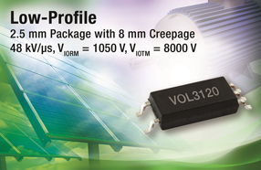 Vishay超薄新驱动器VOL3120有效节省小尺寸逆变器空间