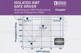 ADI推出ADuM4135隔离式IGBT栅极驱动器,用于工业电机控制
