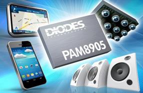 Diodes 1.9W D类音频放大器,提供高功率并延长电池寿命