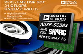 ADI推出8款SHARC处理器,改善实时音频和视频应用