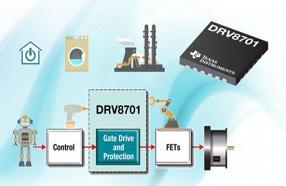 TI推出业内首款具有可调节电流驱动能力的刷式直流栅极驱动器