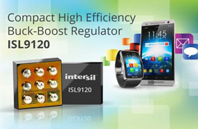 业内最高效率:Intersil新款降压-升压稳压器可实现高效电源管理