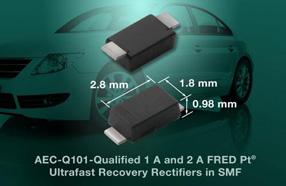 Vishay新款FRED Pt超快恢复整流器可节省汽车和通信应用空间并提高功率密度