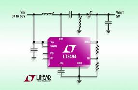 超低静态电流:Linear推出高效升压型DC/DC转换器LT8494