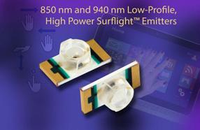 Vishay新款红外发光二极管采用超薄SMD封装,可发出强红外光
