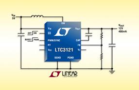 Linear新款DC/DC 转换器 LTC3121,可提供高达 95% 的效率以及输出断接功能