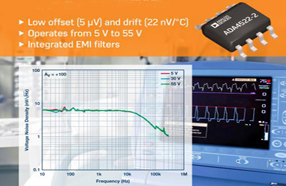 高电压、低噪声、零漂移:ADI新款双通道运算放大器适合各种应用