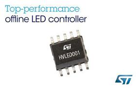 ST新款控制器HVLED001专门优化LED照明应用系统,可满足严苛的照明标准规范
