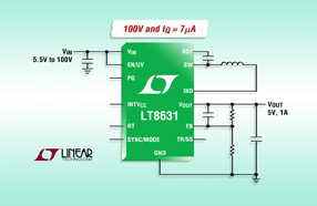 Linear推出同步降压型开关稳压器 LT8631,同步整流可提供高达 90% 的效率