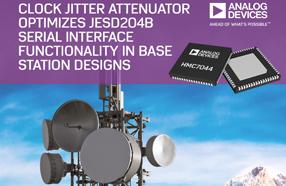 ADI新款时钟抖动衰减器HMC7044,优化JESD204B串行接口功能