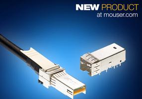 Mouser供货TE微型SFP+连接器和电缆组件,尺寸更小性能更优