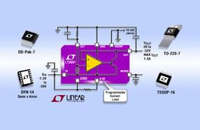 Linear新款低压差负线性稳压器 LT3091噪声低,具备轨至轨运行和精准的可编程电流限制