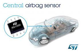 ST 中央碰撞传感器完善汽车安全气囊电子配套产品,可支持最严格的汽车级应用