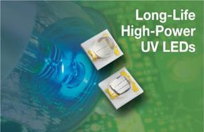 Vishay推出高功率UV LED的两款首批器件:VLMU3500-385-060/120