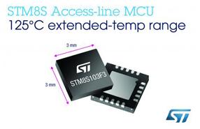 意法半导体STM8S基本型系列微控制器新增耐125°C高温的产品