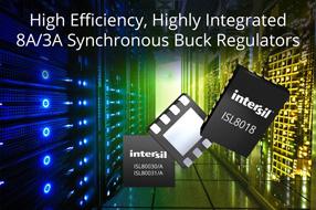 Intersil新款高效高集成度同步降压稳压器可大幅度降压