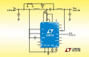 Linear 新款输出 DC/DC 控制器可使输出电压干净的完成通过 0V 的转换