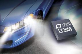 凌力尔特新款LED旁路开关器件LT3965允许对8个单独LED进行独立调光和诊断