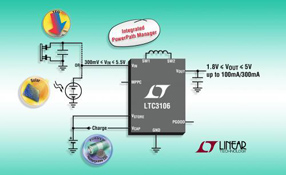 Linear新款降压-升压型 DC/DC 转换器 LTC3106 可优化多电源、低功率系统