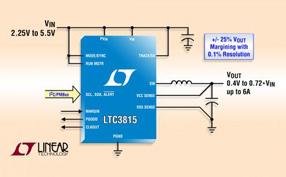 Linear推出高效率 6A 单片同步降压型 DC/DC 转换器 LTC3815