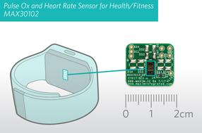 Maxim健康监测传感器模组MAX30102设计简便,可提供超低功耗方案